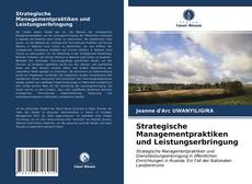 Buchcover von Strategische Managementpraktiken und Leistungserbringung