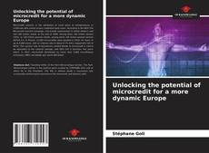 Unlocking the potential of microcredit for a more dynamic Europe kitap kapağı