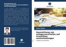 Portada del libro de Aauswirkung von anlegervorurteilen auf investition-sentscheidungen