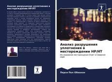 Buchcover von Анализ разрушения уплотнения в месторождении HP/HT