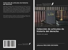 Buchcover von Colección de artículos de historia del derecho