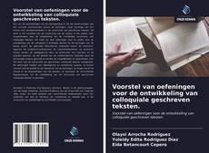 Bookcover of Voorstel van oefeningen voor de ontwikkeling van colloquiale geschreven teksten.