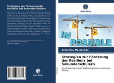 Strategien zur Förderung der Resilienz bei Sekundarschülern kitap kapağı