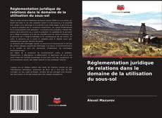 Copertina di Réglementation juridique de relations dans le domaine de la utilisation du sous-sol