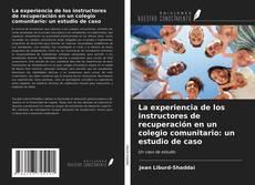 Обложка La experiencia de los instructores de recuperación en un colegio comunitario: un estudio de caso