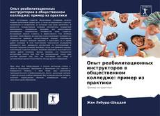 Обложка Опыт реабилитационных инструкторов в общественном колледже: пример из практики