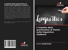 Buchcover von L'impatto della grammatica di Panini sulla linguistica moderna
