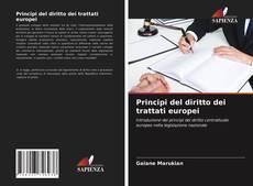 Capa do livro de Principi del diritto dei trattati europei
