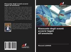 Borítókép a  Riassunto degli eventi avversi legati all'anestesia - hoz