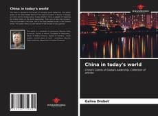 Capa do livro de China in today's world