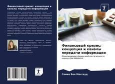 Финансовый кризис: концепция и каналы передачи информации kitap kapağı