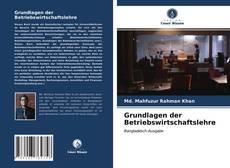 Portada del libro de Grundlagen der Betriebswirtschaftslehre