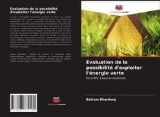 Portada del libro de Évaluation de la possibilité d'exploiter l'énergie verte