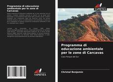 Copertina di Programma di educazione ambientale per le zone di Carcavas