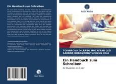 Portada del libro de Ein Handbuch zum Schreiben