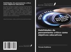 Обложка Habilidades de pensamiento crítico como objetivos educativos