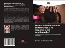 Обложка Formation émotionnelle ou formation à la responsabilité émotionnelle ?