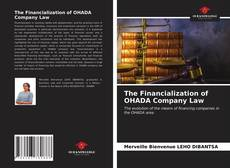 Bookcover of The Financialization of OHADA Company Law