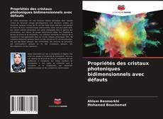 Couverture de Propriétés des cristaux photoniques bidimensionnels avec défauts