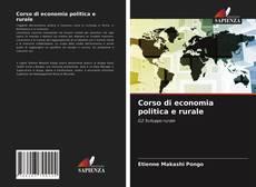 Couverture de Corso di economia politica e rurale