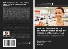 Portada del libro de KAP del farmacéutico y del médico hacia el uso de medicamentos genéricos