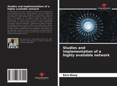 Portada del libro de Studies and implementation of a highly available network
