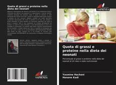 Bookcover of Quota di grassi e proteine nella dieta dei neonati