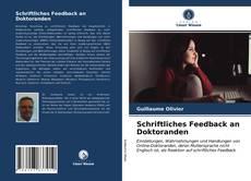 Bookcover of Schriftliches Feedback an Doktoranden