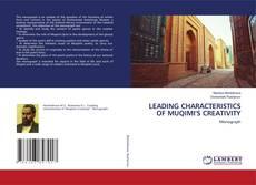 Buchcover von LEADING CHARACTERISTICS OF MUQIMI'S CREATIVITY