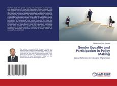 Bookcover of Gender Equality and Participation in Policy Making