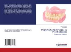 Bookcover of Phonetic Considerations in Prosthodontics