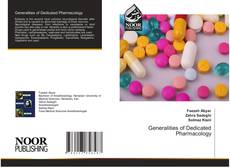 Bookcover of Generalities of Dedicated Pharmacology