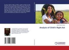 Capa do livro de Analysis of Child's Right Act