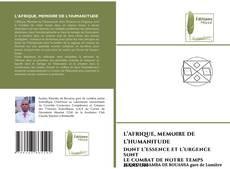 Bookcover of L'AFRIQUE, MEMOIRE DE L'HUMANITUDE