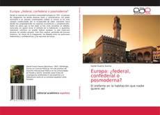 Обложка Europa: ¿federal, confederal o posmoderna?