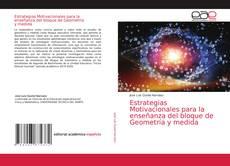 Portada del libro de Estrategias Motivacionales para la enseñanza del bloque de Geometría y medida