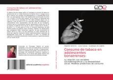 Bookcover of Consumo de tabaco en adolescentes bonaerenses: