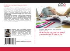 Capa do livro de Ambiente organizacional y convivencia docente