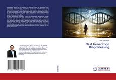 Bookcover of Next Generation Bioprocessing