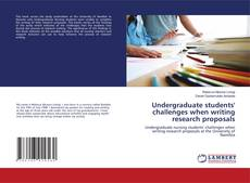 Couverture de Undergraduate students' challenges when writing research proposals
