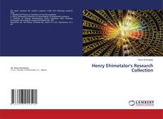 Bookcover of Henry Ehimetalor's Research Collection