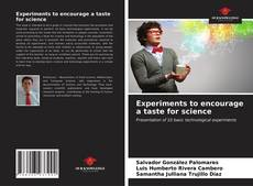 Buchcover von Experiments to encourage a taste for science