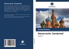 Capa do livro de Steuerrecht. Sonderteil