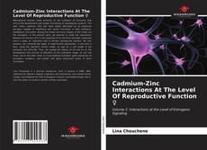 Cadmium-Zinc Interactions At The Level Of Reproductive Function ♀ kitap kapağı