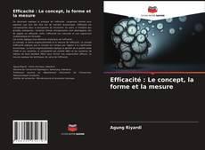 Capa do livro de Efficacité : Le concept, la forme et la mesure