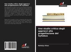 Обложка Uno studio critico degli approcci alla progettazione del Syllabus