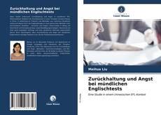 Capa do livro de Zurückhaltung und Angst bei mündlichen Englischtests