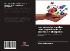 Couverture de Une approche durable pour la gestion de la carence en phosphore