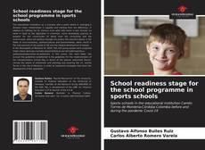 Copertina di School readiness stage for the school programme in sports schools