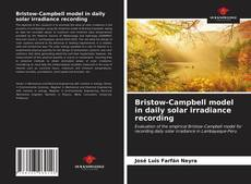 Bookcover of Bristow-Campbell model in daily solar irradiance recording